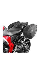 BLAZE H saddlebag set Black/Grey. Honda CB1000R (08-17).
