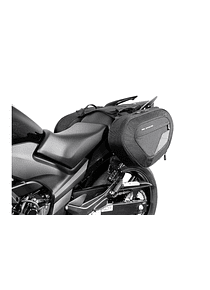 BLAZE saddlebag set Black/Grey. Honda CBF500/ 600/ 1000.