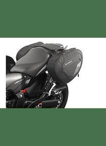 BLAZE saddlebag set Black/Grey. Honda CB600F (07-13) / CBR600F (11-).