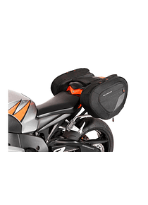 BLAZE H saddlebag set Black/Grey. Honda CBR1000RR Fireblade (08-16).