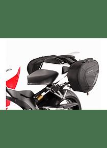 BLAZE H saddlebag set Black/Grey. Honda CBR1000RR Fireblade (04-07).