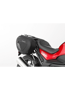 BLAZE saddlebag set Black/Grey. Honda NC700 (11-14) / NC750 (14-).