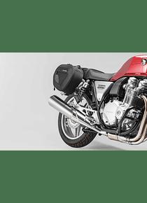 BLAZE saddlebag set Black/Grey. Honda CB1100 / EX (12-16).