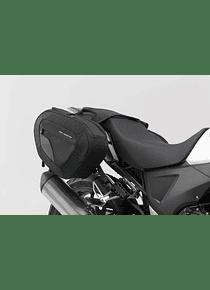 BLAZE saddlebag set Black/Grey. Honda CB500X (13-).