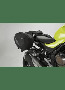 BLAZE H saddlebag set Bl./Grey.HondaCBR300R(15-),500R(16-)/CB500F(-18)