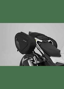BLAZE H saddlebag set Black/Grey. CBR300R(15-), CBR500R/CB500F (16-).