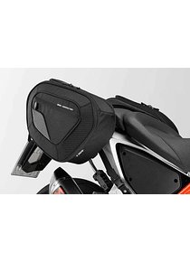 BLAZE H saddlebag set Black/Grey. KTM 690 Duke / R (11-).
