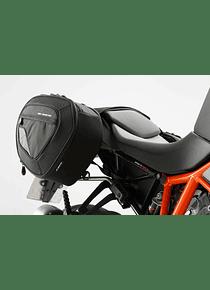 BLAZE H saddlebag set Black/Grey. KTM 1290 Super Duke R (14-).