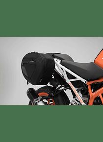 BLAZE H saddlebag set Black/Grey. KTM 125 / 390 Duke (17-).