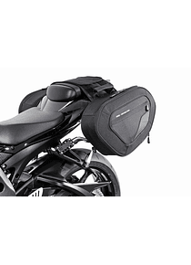 BLAZE saddlebag set  Black/Grey. Suzuki GSX-R600/750/1000.