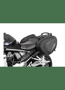 BLAZE H saddlebag set Black/Grey. Suzuki GSX650F, 1250F/GSF1250, 1250S.