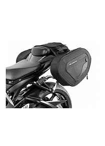 BLAZE saddlebag set Black/Grey. Suzuki GSX-R600 / GSX-R750 (05-10).