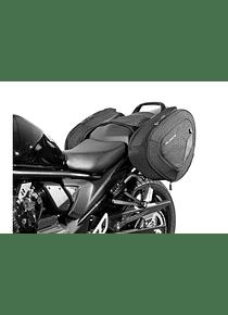 BLAZE H saddlebag set Black/Grey. Suzuki GSF650/S (09-) GSF1250 (10-).