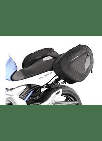 BLAZE H saddlebag set Black/Grey. Suzuki SFV650 Gladius (09-16).