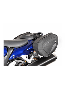 BLAZE H saddlebag set Black/Grey. Suzuki GSX1300R Hayabusa (08-).