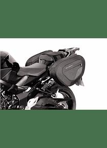 BLAZE H saddlebag set Black/Grey. Suzuki GSR750 (11-)/ GSX-S750 (17-).
