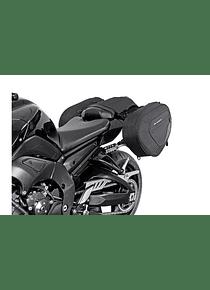 BLAZE saddlebag set Black/Grey. Yamaha FZ1, FZ1 Fazer/ FZ8, FZ8 Fazer.