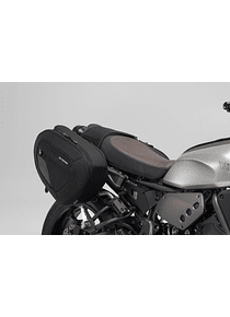 BLAZE H saddlebag set Black/Grey. Yamaha XSR700 (15-).
