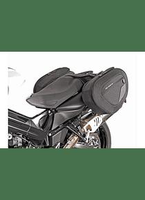 BLAZE H saddlebag set Black/Grey. BMW F 800 R (09-14)/ F 800 GT (12-16).