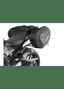 BLAZE H saddlebag set Black/Grey. BMW S1000RR (12-14) /S1000R (13-16).