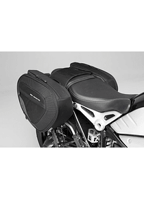 BLAZE H saddlebag set Black/Grey. BMW R nineT (14-), Pure / GS (16-).