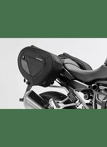 BLAZE H saddlebag set Black/Grey. R1200R/RS (14-), R1250R/RS (18-).