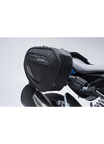 BLAZE H saddlebag set Black/Grey. BMW G 310 R (16-).