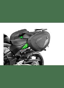 BLAZE H saddlebag set Black/Grey. Kawasaki Z750 (07-12)/ Z750 R (11-12).