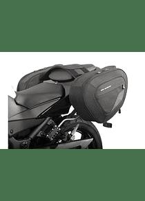 BLAZE H saddlebag set Black/Grey. Ninja 250R (08-)/300 (12-),Z300 (15-).