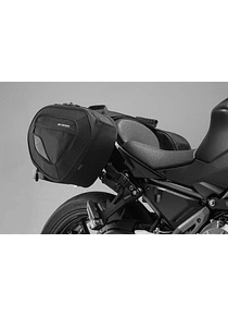 BLAZE H saddlebag set Black/Grey. Kawasaki Z650 / Ninja 650 (16-).