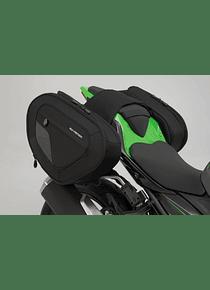 BLAZE H saddlebag set Black/Grey. Kawasaki Ninja/ Z 400 (18-).