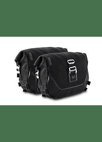 Legend Gear side bag system LC Black Edition Triumph Thruxton 900 (04-15)/Bonneville SE(04-16).