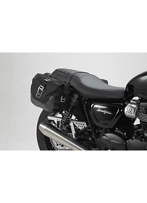 Legend Gear side bag system LC Triumph Street Twin/Cup, Thruxton TFC.