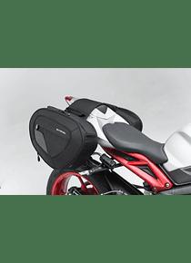 BLAZE H saddlebag set Black/Grey.Street Triple (15-), Daytona 675 (13-).
