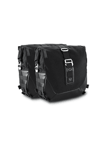 Legend Gear side bag system LC Black Edition Harley Davidson Dyna Wide Glide (00-08).