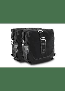 Legend Gear side bag system LC Black Edition Harley Davidson Dyna Wide Glide (09-17).