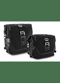 Legend Gear side bag system LC Black Edition Harley Davidson Softail Fat Boy, Breakout.