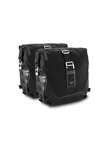 Legend Gear side bag system LC Black Edition Harley Davidson Dyna Fat Boy (07-17).