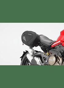 BLAZE H saddlebag set Black/Grey. Ducati Monster 821, 1200 / S.