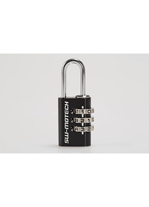 Lock for motorcycle luggage Black. Combination lock.