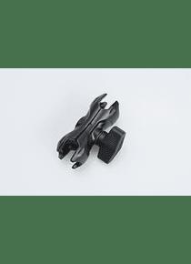 Pivoted socket arm Black. 2.2 Inch / 5.5 cm.