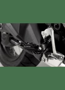 Footrest extension Black. Honda CRF 1000 L Africa Twin (15-17).