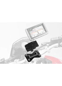 GPS mount for handlebar Black. Honda models, BMW R 1150 R (04-06).