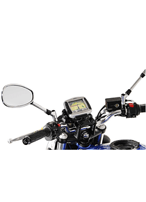 GPS mount for handlebar Black. Honda models, Suzuki SFV 650 (09-16).