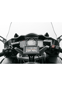 GPS mount for handlebar Black. Yamaha FJR 1300 (04-).