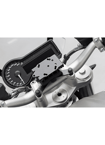 GPS mount for handlebar Black. BMW / Triumph models, Himalayan.