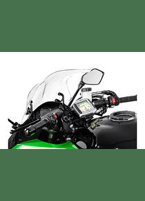 GPS mount for handlebar Black. Kawasaki Z 1000 SX (11-).