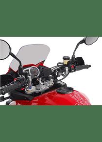 GPS mount for handlebar Black. Honda /Triumph models, Suzuki VStrom1000.