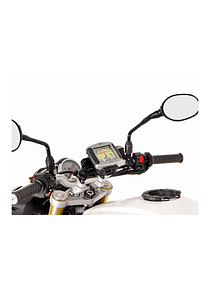 GPS mount for handlebar Black. KTM / Triumph models, ER6f, GSXS 750.