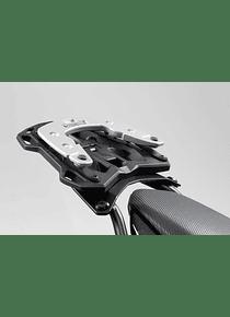 Adapter plate for STREET-RACK For Krauser K-Wing, Hepco&Becker C-Bow. Black.